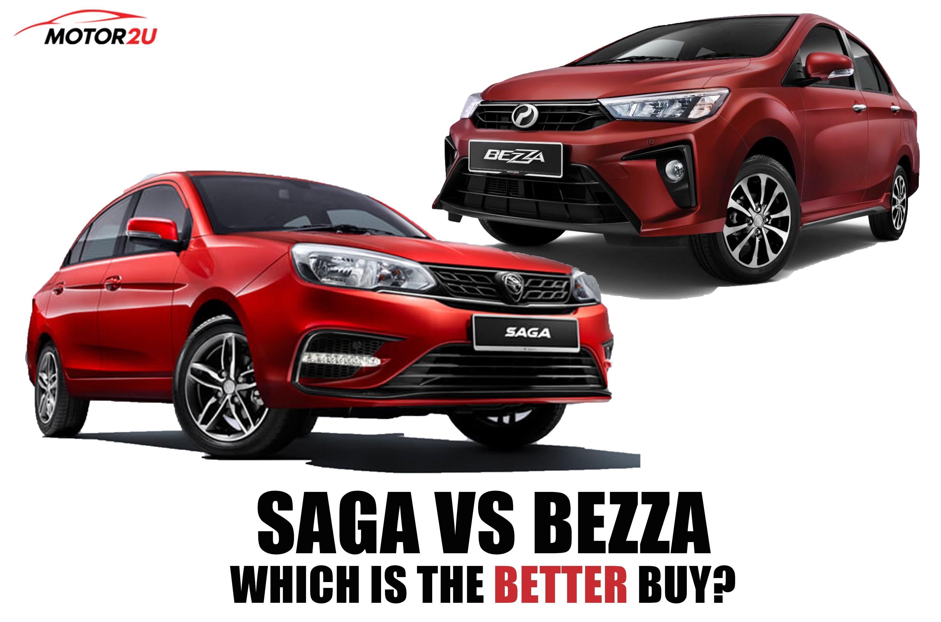 Proton Saga vs Perodua Bezza, which is the better buy?